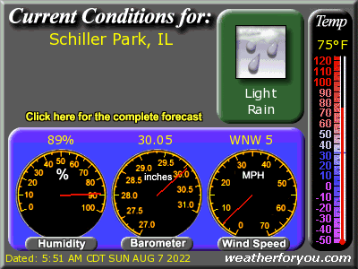 Latest Schiller Park, Illinios, weather conditions and forecast
