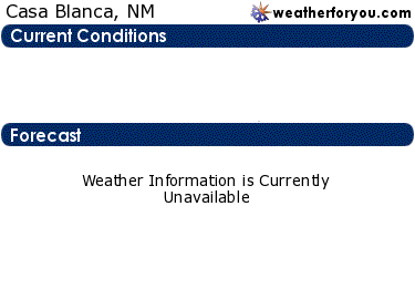 Latest Casa Blanca, New Mexico, weather conditions and forecast