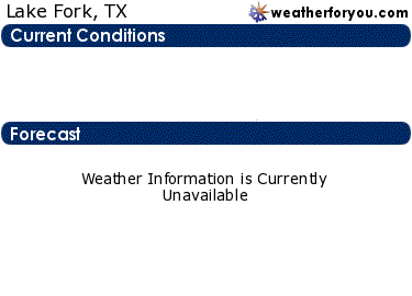 Latest Lake Fork, Texas, weather conditions and forecast