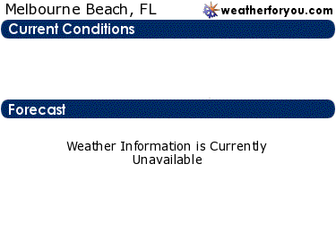 Latest Melbourne Beach, Florida, weather conditions and forecast