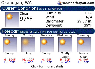 Latest Okanogan, Washington, weather conditions and 