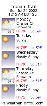 Indian Trail, Michigan, weather forecast