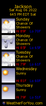 Jackson, Michigan, weather forecast