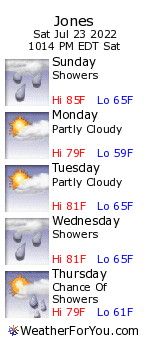 Jones, Michigan, weather forecast