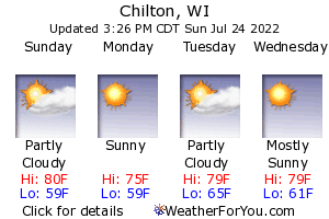 Chilton, Wisconsin, weather forecast