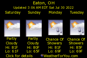 Eaton, Ohio, weather forecast