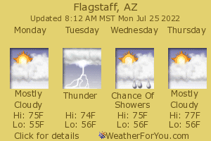 Flagstaff, Arizona, weather forecast