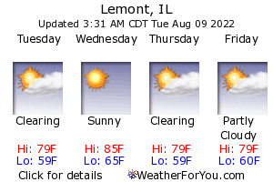 Lemont, Illinois, weather forecast