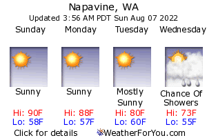 Napavine, Washington, weather forecast