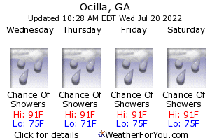 Ocilla, Georgia, weather forecast