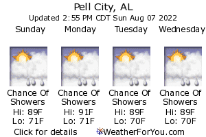 Pell City, Alabama, weather forecast
