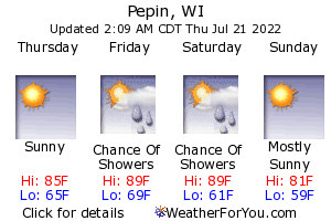 Pepin, Wisconsin, weather forecast