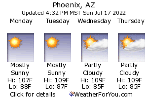 Phoenix, Arizona, weather forecast