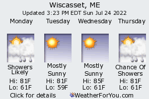 Wiscasset, Maine, weather forecast