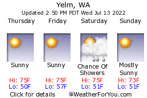 Yelm, Washington, weather forecast