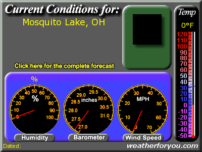 Latest Mosquito Lake, OH weather conditions and forecast