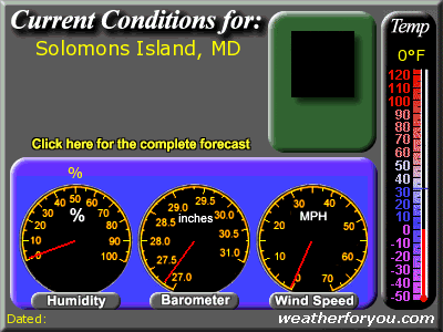 Latest Solomons Island, Maryland, weather conditions and forecast
