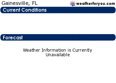 Latest Gainesville, Florida, weather conditions and forecast