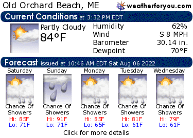 Latest Old Orchard Beach, Maine, weather conditions and forecast