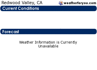 Latest Redwood Valley, California, weather conditions and forecast