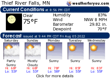 Latest Thief River Falls, Minnesota, weather conditions and forecast