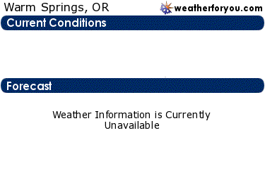 Latest Warm Springs, Oregon, weather conditions and forecast