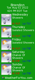 Brandon, Florida, weather forecast