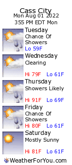Cass City, Michigan, weather forecast