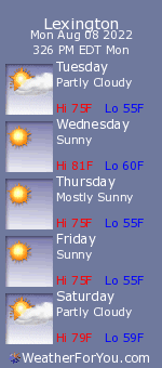 Sorry! The Lexington, MI. weather forecast is currently unavailable. Click here to visit WeatherForYou.com.