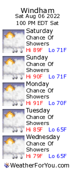 Coventry, Connecticut, weather forecast