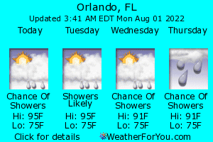 Orlando weather feed - click for Forecast