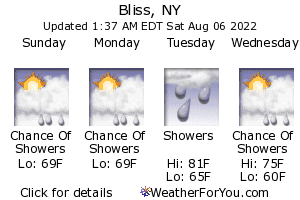 Bliss, New York, weather forecast