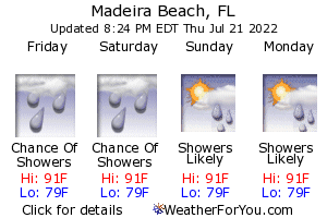 Madeira Beach, Florida, weather forecast