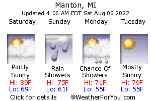 Manton, Michigan, weather forecast