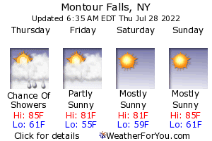 Montour Falls, New York, weather forecast