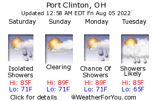 Port Clinton, Ohio, weather forecast