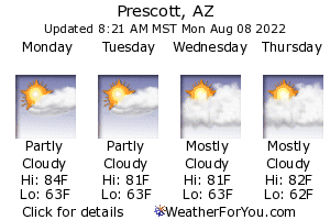 Prescott, Arizona, weather forecast