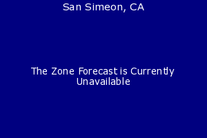 San Simeon, California, weather forecast