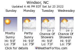 Windsor, North Carolina, weather forecast