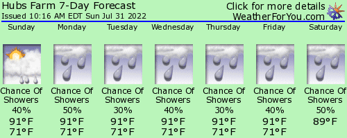 Chester County, South Carolina, weather forecast