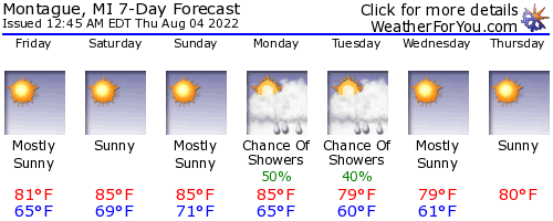 Montague, Michigan, weather forecast